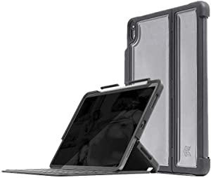 STM Dux Shell, Sleek case for Apple iPad Pro 11 Supports Apple Keyboard Folio - Black (stm-222-221JV-01)