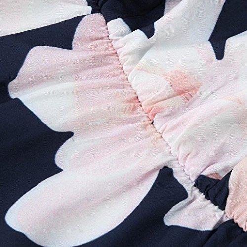 del o Sin Impresos Elegante Ocasional Barato Flojo Hombro Mujeres Tama Elegantes Adeshop Tops Pantalones Cortos Cofre Cuerpo Grande Mangas Navy n6f8SwOq