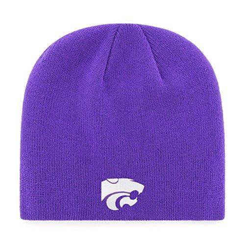 Men Apparel Headwear (OTS NCAA Kansas State Wildcats Beanie Knit Cap, Purple, One Size)