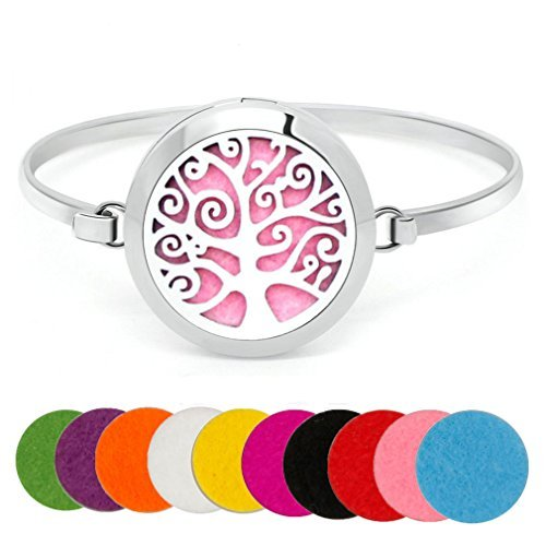 Practical Silver Tree Of Life Charm Bracelet Chain Jewelry Gift Portable Lightweight Gl Bracelets Jewelry & Watches