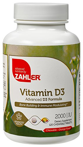 Zahler-VITAMIN-D3-CHEWABLE-2000IU-An-All-Natural-Supplement-Targeting-Vitamin-D-Deficiencies-Certified-Kosher-120-Great-Tasting-Orange-flavored-Tablets