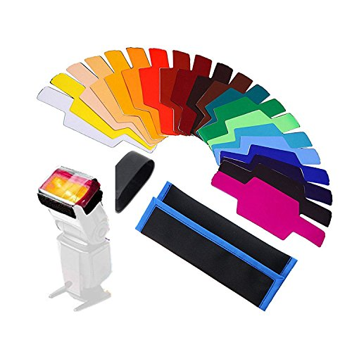 20pc Strobist Flash Color Lighting Gel Pop up flash diffuser soft box Filter Diffuser Gel Color card for flash speedlite Canon 600EX 580EX II 430EX Nikon SB910 SB900 SB600 YN560 III YN-560 IV by GHYC