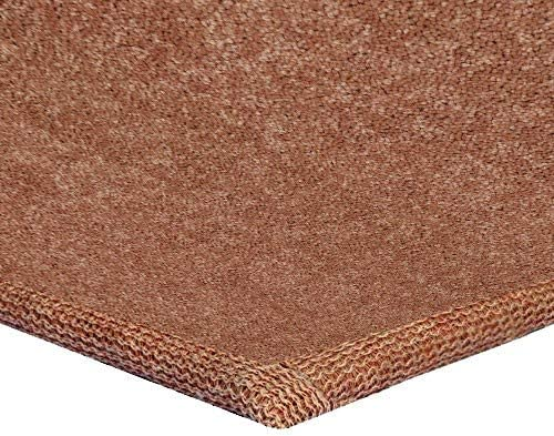 New Shag Collection Solid Color Rust 8 x10 Oval – Area Rug