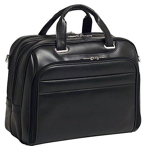 Mcklein USA Springfield, Leather Flythrough Checkpoint Friendly Laptop Briefcase - 15.6