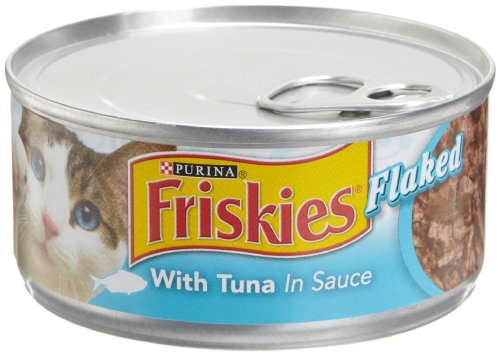 Friskies Cat Food Flaked with Tuna in Sauce, 5.5-Ounce Cans (Pack of 24), My Pet Supplies