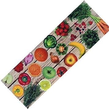 Flur teppich waschbar  Teppich-Läufer Waschbar rutschfest | Design Obst Gemüse Modern ...