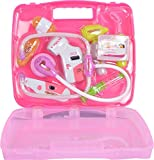 Toyshine Doctor Set Pretend Play Toy with Light Sound Effects, Pink