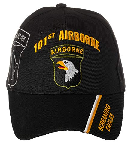 Officially Licensed US Army 101st Airborne Division Screaming Eagles Embroidered Black Adjustable Baseball Cap