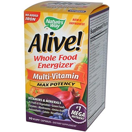 NATURE'S WAY, Alive! (no iron added) - 90 vegicaps