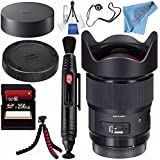 Sigma 20mm f/1.4 DG HSM Art Lens for Canon EF #412954 + 256GB SDXC Card + Lens Pen Cleaner + Fibercloth + Deluxe Cleaning Kit + Lens Capkeeper + Flexible Tripod Bundle