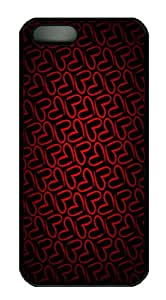 iPhone 5S Cases & Covers - Minimalistic pattern red love Polycarbonate Hard iPhone 5s and iPhone 5 Case Cover - Black
