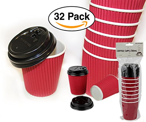 red and black coffee cups - 2