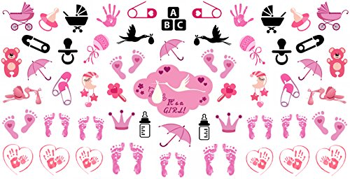 Amazon its a girl nail art decals footprints strollers amazon its a girl nail art decals footprints strollers more great baby shower gift beauty prinsesfo Gallery