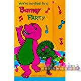 """Barney Invitations """" You're Invited to a Barney Party"""""""
