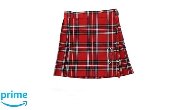 Glen Appin - Falda - Falda Escocesa - para niña Rojo Rosso 42 ...