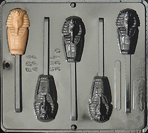Egyptian Mummy Lollipop Chocolate Candy Mold 3310 (Egyptian Party Decorations)
