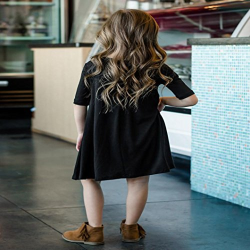 Upxiang Mutter amp  Tochter Kurzarm Kleid Love is all you need ... 4bd3f70d2a