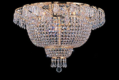 Flush French Empire Crystal Chandelier Chandeliers Lighting 19.5