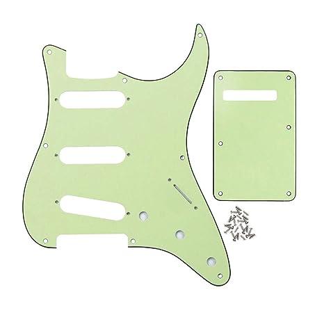 FLEOR SSS 8 agujero Strat guitarra eléctrica golpeador y guitarra ...