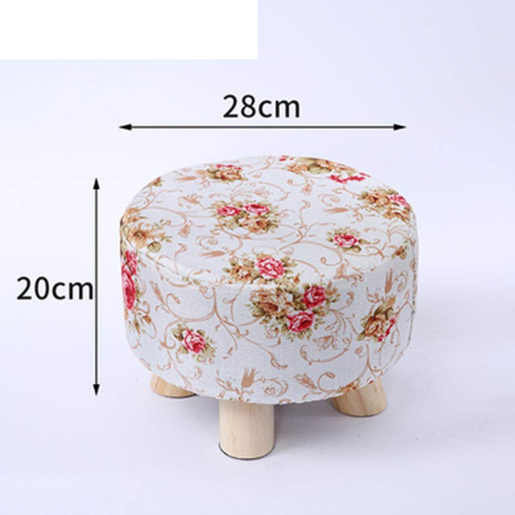 B DQMSB Solid Wood Stool Home Small Stool Creative Small Bench Living Room Coffee Table Stool Sofa Stool Fashion Stool Change shoes Bench (color   D)
