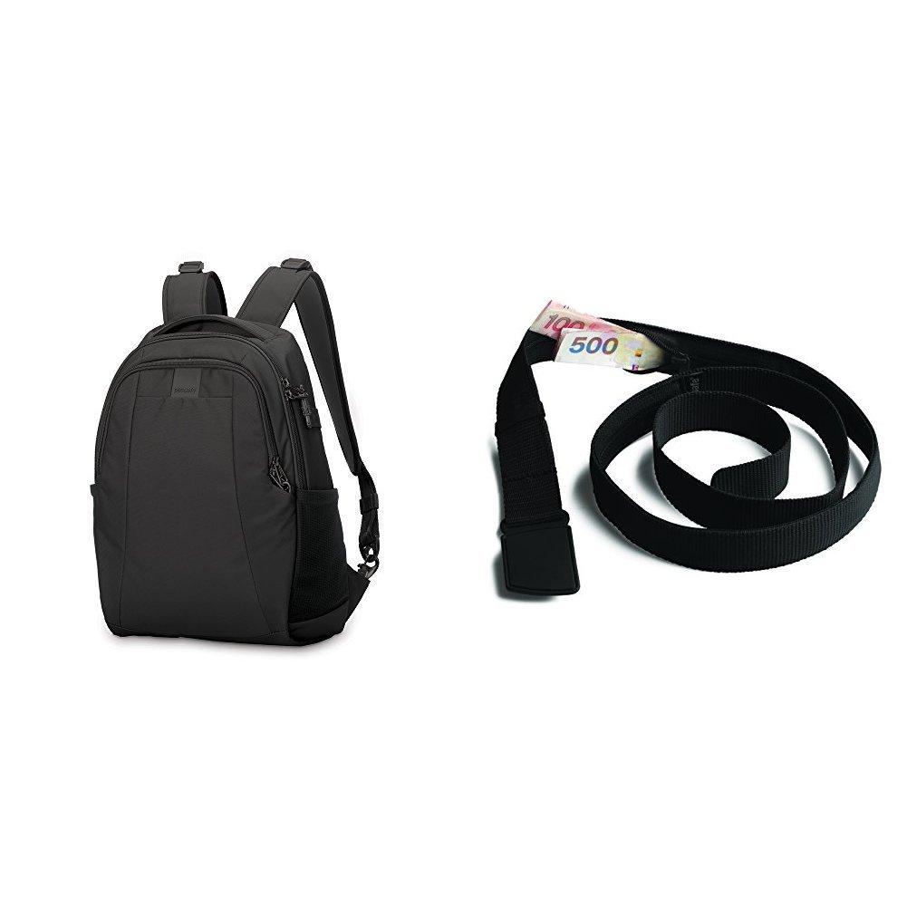 PacSafeMetrosafe LS350 Anti-Theft 15L Backpack with Travel Belt Wallet