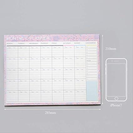 YNIME Cuaderno Agenda Cuaderno A4 Diario Bullet Diario ...