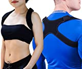 "GAVIMAX Upper Back Support Posture Corrector – Fits 24""-48"" Chest for Women & Men – Elastic Back Brace Corrects Posture at Work – Clavicle Brace Fixes Bad Shoulder Alignment –Velcro Adjustable"