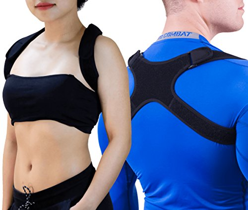"GAVIMAX Upper Back Support Posture Corrector – Fits 24""-48"" Chest for Women & Men – Elastic Back Brace Corrects Posture at Work – Clavicle Brace Fixes Bad Shoulder Alignment –Velcro Adjustable by GAVIMAX"