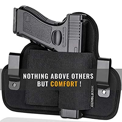 Ultimate Comfortable IWB Holster | Quick Draw Concealed Gun Holster | One Holster Fits Most Pistols & Revolvers,Black