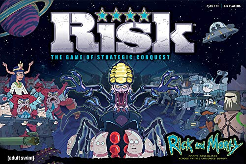 USAOPOLY Risk Rick and Morty Risk Game | Based on The Popular Adult Swim TV Show Rick & Morty | Official Rick and Morty Merchandise | Classic Risk Board Game Themed for Rick Morty Series
