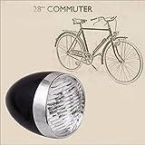 DZT1968 3 LED Flashlight Bicycle Front Light Bike LampRetro Vintage Lighthouse Lantern without battery (Black)
