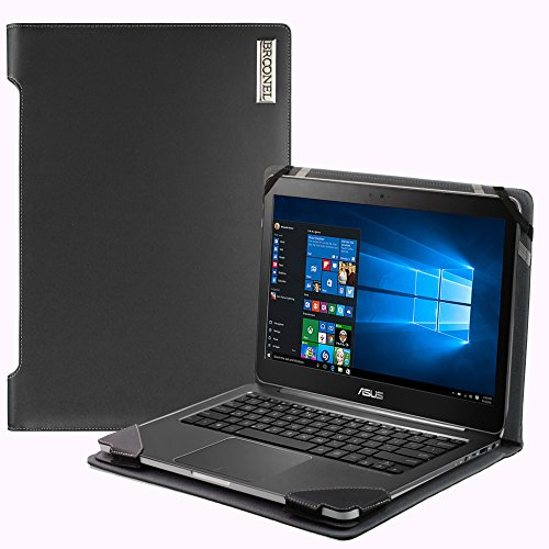 Broonel London - Profile Series - Black Vegan Leather Laptop Case Cover Sleeve For The ASUS VivoBook A540 15.6