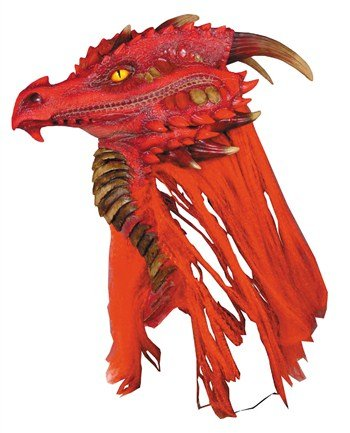 Fire Brimstone Dragon Deluxe Adult Halloween Mask ()