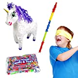 Pinatas Fairytale Unicorn Kit Including, Buster Stick, Bandana, 3 lb Toy and Candy Filler
