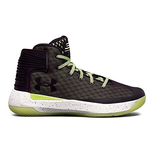 Under Armour Kids Boy's UA GS Curry 3.5 Basketball (Big Kid) Imperial Purple/Lime Fizz/White Athletic Shoe (White Imperial Feet)
