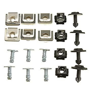 Forspero Set Undertray Guard Engine Cover Fixing Fitting Clips Screws Kit For AUDI A4 A6