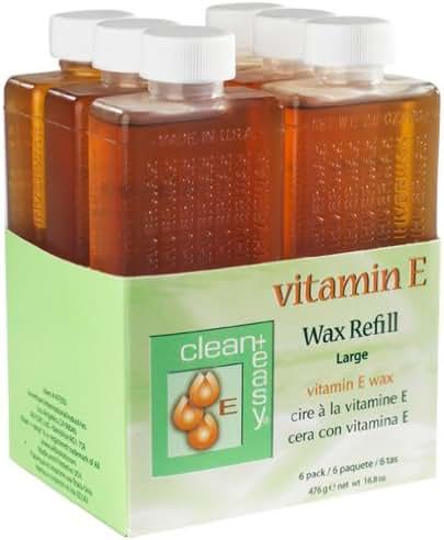 Clean + Easy Large Vitamin E Wax Refill- 6 pk