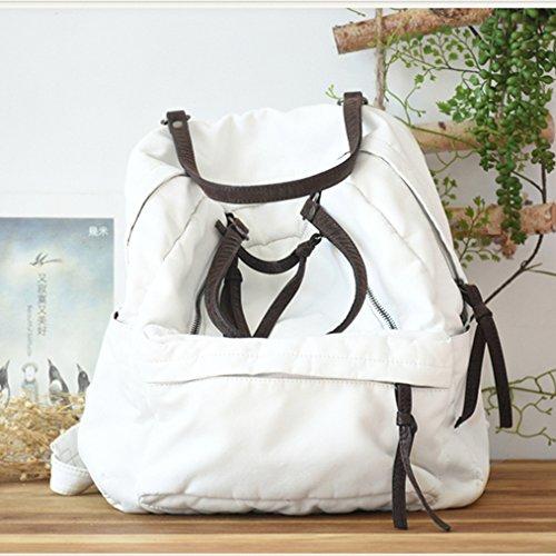BAGEHUA ソフトの Pu ショルダーウォッシュバッグ、若い女の子の芸術的な色、新鮮で、小型のバックパックは、女性学生のブックバッグ潮 B076K8H5K8white
