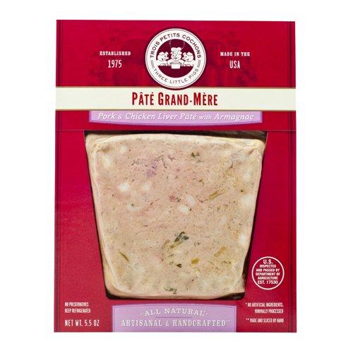 Pork & Chicken Liver Pate w/Armagnac, Sliced - 5.5 oz (Pack of 8)