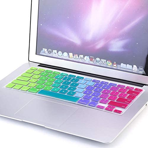 1pc Rainbow Silicone Keyboard Case Cover Skin Protector for iMac Macbook Pro 13 15 Cover Protector Value-Trade-Inc