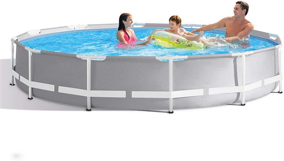GJQDDP Piscina Redonda con Estructura de Acero, Piscina Pro enmarcada Estante para Tubos Piscina Piscina para niños piscifactoría 305 * 76 cm: Amazon.es: Hogar