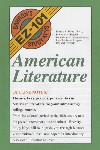 American Literature (Barron's EZ-101 Study Keys) (Library Edition) by Skipp Francis E. (2005-10-01) Audio Cassette