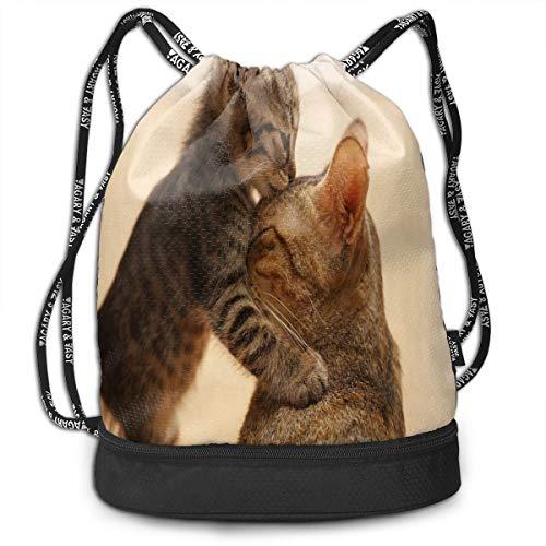 drawstring bag lovely animals cats