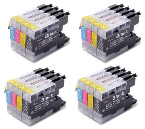 16 Pack - Toners & More Compatible Inkjet Cartridge Set for Brother LC-75 LC75 LC71 LC-71 LC 75, LC-75BK Black, LC-75C Cyan, LC-75M Magenta, LC-75Y Yellow, Compatible with Brother MFC-J6510DW, MFC-J6710DW, MFC-J6910DW, MFC-J280W, MFC-J425W, MFC-J430W, MFC