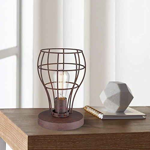 Uplight Table (AXILAND Industrial Uplight Edison Bulb Table Lamp Uplight Iron Works Desk Light)
