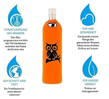 Búho Neo 0,5 - flaska Botella Botella de Agua Botella de Cristal para Regular wassertrinken + 2 Corcho: Amazon.es: Deportes y aire libre