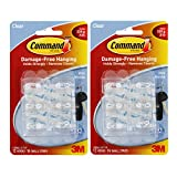 Tools & Hardware : Command Mini Clear Hooks with Clear Strips 17006CLR-VP, 24 Hooks with 32 Adhesive Strips per Pack