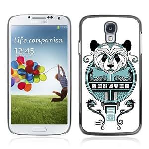 CQ Tech Phone Accessory: Carcasa Trasera Rigida Aluminio Para Samsung Galaxy S4 i9500 - Cool Asian Panda Mosaic Illustration