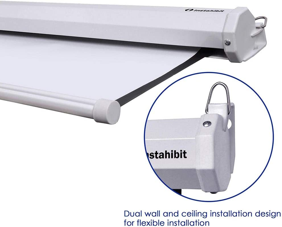 Instahibit 72 inch HD 16:9 Manual Pull Down Projector Screen Self ...