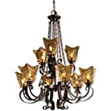 Cheap Uttermost 21005 Vetraio 9-Light Chandelier, Oil Rubbed Bronze Finish